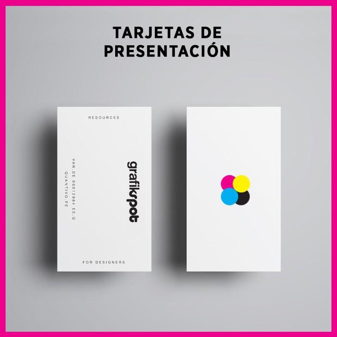 Ejemplo de tarjetas de presentacion blancas para empresa